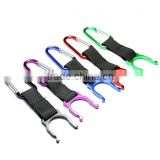 Camping Hiking Traveling Key Chain Multi-color Water Bottle Belt Clip Carabiner Holder Hook
