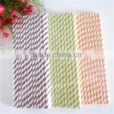 Striped Paper Straw for Soft Drink Hot Drink Beverage Store Coffee Shop