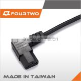 Made in Taiwan high quality low price power cord cable,iec c17 power cord,y splitter power cord