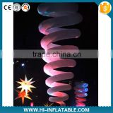 newest party decoration led light inflatable spring used for event&party&stage decoration