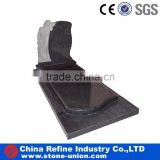 Absolute black granite tombstone, china black cheap headstones