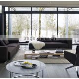 Modern Elegant Black Simple Design Sofa Set Sofa Living Room Furniture Fancy Sofa Set