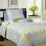 Quilts pujiang factory Rotary printed quilts bedding sets quilts bed sheets made in China