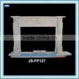 Western designed marble fireplace