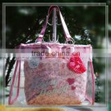 Trendy fancy clear pvc ladies toiletry handbags