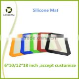 Custom FDA approved food grade non stick silicone dab mat slick bho wax concentrate pads for smoking .manufacturer .