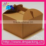 custom brown kraft paper food grade cake box