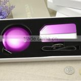 Aluminum round makeup mirror and aluminum luggage tag gift set packing /wedding gift sets