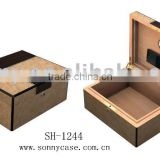 Custom square wooden cigar box