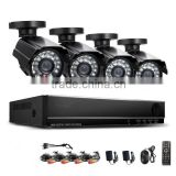 2MP HD 4 Channel Surveillance 1920*1080P Home Black Metal Bullet Security Camera DVR Kit AHD 3000TVL Outdoor 4CH CCTV System Kit