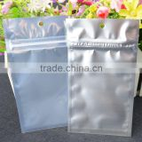 Silver Aluminum Foil Mylar Vacuum Sealer Food Storage Package Pouches Reclosable Ziplock Bag Clear Front view