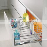 TKK Chrome Plated Iron Pull Out Wire Basket In Sink Cabinet