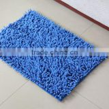 chenille floor mat with anti slip base polyester room mat