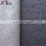 100% polyester hexagon pattern breathable linen look fabric for sofa set, cushion cover, pillow, etc from china online