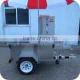 2014 New Design 304 Stainless Steel Coffee Drink Food Cart with Umbrella for Wedding Party XR-CC120 A