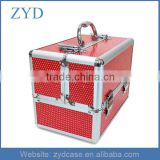 High Grade Aluminum Cosmetics Carry All Trunk Makeup Kit With Sequins On Box ZYD-HZMmc021