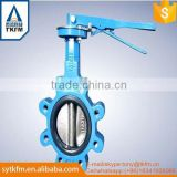 TKFM hot sale city building heating supply use low pressure lug type butterfly valve