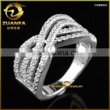 hot sell Silver Cubic Zirconia CZ ring