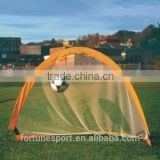 Pop-up mini fiberglass soccer goals with net