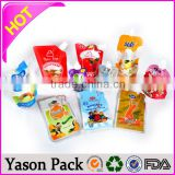 YASON stand up spout bag for soap top cap stand up pouch for orange juice packing stand up pouch doy pack packaging spout pouch