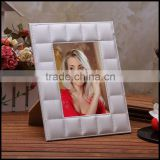 Sheng Rende quality European leather 7 inch rectangular Gift Photo Frame fashion creative leather photo frame manufacturers dire
