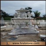 Handcarved Marble stone angel water fountains for center plaza