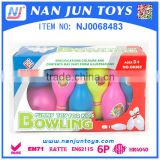 Cartoon plastic bowling ball game set