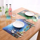 table mats all kinds of Fishes custom 3D placemat                                                                         Quality Choice