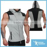 mens athletic apparel gym sleeveless hoodie manufacturers                                                                         Quality Choice