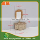 architecture miniature scale 3d model washing cabinet                                                                         Quality Choice