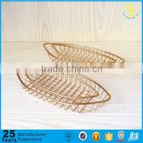 Trade assurance Gold plate Stainless Steel Fry Basket Bread Basket Dessert Basket, gold Restaurant Table Serving fry basket