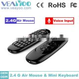 2.4g C120 mini keyboard air mouse for TV BOX, tablet pc, smart tv