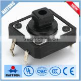 Hot selling 4pin black mechanical push button tact switch