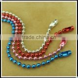 colorful ball chain necklace with connector
