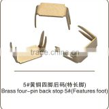 Brass four-jaw bottom stopper No.5 Features foot zipper garment accessories