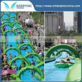 Green 300m Long Giant Inflatable Water Slide,Durable PVC Commercial Customized Inflatable Slide