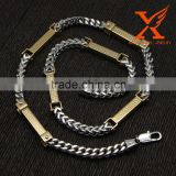 In Stock Fashion Stainless Steel Jewelry Necklaces Wholesale Two Tone Silver Gold Men's Chain Franco Chain Necklace