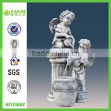 "18.1""Angels Pouring Outdoor Water Fountain"