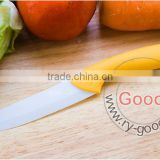 "In Yellow handle Ceramic Knife Cutlery Chef Knives White Blade Size 5"" 5 inch blade"
