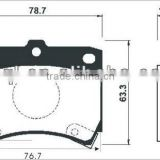 brake pad sets for Mazda KK150-33-23Z