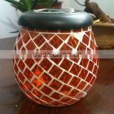 glass mosaic solar jar with solar lid