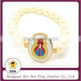 Best Gift For Muslim Gold Stainless Steel Religious Colorful Enamel Blessed Virgin Mary Charm Link Rosary Beads Rosary Bracelet