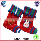 Cute Cartoon Stuffed Socks Plush Christmas Gift Toy / Custom Sock For Packing Candy For Christmas