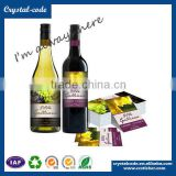 Wine label maker custom anti-freezing anti-water wine label with competitive price