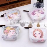 Blue Fruit Princess Alicia Korea PU wallet purse small purse hot new creative custom stationery