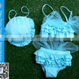 Fashion sexy mini skirt children bowknot thong bikini