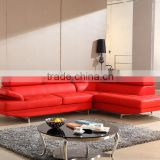 Top Grain Leather Modern Design L Shaped Corner Sofa Set