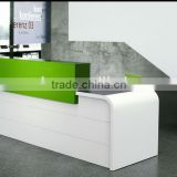 custom made reception desks curved white reception desk ,solid surface reception countertop