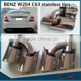 For MB C-CLASS w204 C63 STYLE muffler tips/exhaust tips