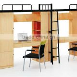 New design double stainless steel bunk bed/steel school dormitroy bed/steel school bunk bed